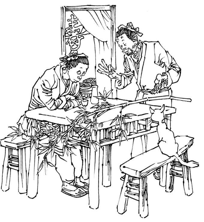 小孩子整理床铺简笔画