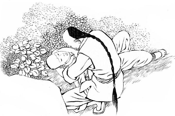 古代书生背影简笔画